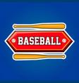 baseball players community emblem with bats vector image vector image