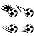 black soccer logo icons set vector image vector image