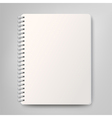 Blank realistic spiral notebook isolated on white vector image vector image
