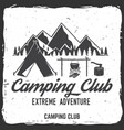 Camping club badge concept