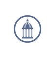 castile hall logo vector image vector image