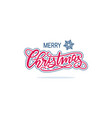 christmas handwriting lettering vector image