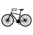 classic man bike black silhouette vector image vector image