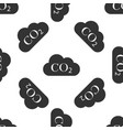 co2 emissions in cloud icon seamless pattern vector image vector image