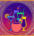 cocktail party label vector image