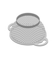 colander isolated isometry pastafarianism cap vector image vector image