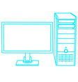 contour computer monitor and system unit vector image