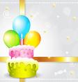 corlorful birthday background vector image