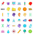 creative working icons set cartoon style vector image vector image