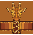 Decorative giraffe head vector image