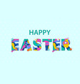 easter sale banner paper cut vector image vector image