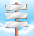 Empty wooden signages vector image vector image