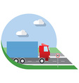 flat design city transportation small truck vector image