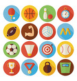 Flat Sport Recreation and Competition Circle Icons vector image