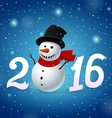 Funny New Year background vector image