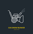 gas snow blower flat line icon sign of vector image vector image