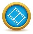 Gold film icon vector image