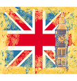 Grunge banner with London vector image vector image
