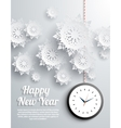 Happy New Year snowflakes vector image vector image