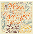 How To Gain Weight And Increase Muscle Mass text vector image vector image