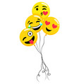 inflatable balloons in shape emoji emoticons vector image vector image