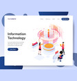 information technology designer isometric vector image vector image