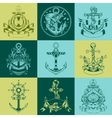 It is labels with the image of anchors vector image vector image