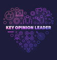 key opinion leader colored line heart vector image vector image