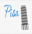label for travel in pisa vector image