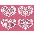 laser printing romantic lacy wedding hearts vector image