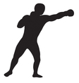 left jab outline vector image vector image