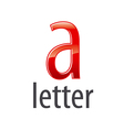 logo red letter A with highlights vector image vector image