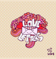 love letter cute valentines day card handwritten vector image vector image