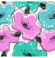 lush flowers in the scandinavian style vector image vector image