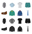 man and clothing icon set vector image vector image