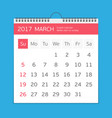 march calendar template vector image vector image