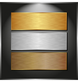 metallic banners vector image vector image