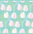 modern abstract white tulip flowers pattern vector image vector image