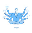 multitasking businessman project manager sitting vector image vector image