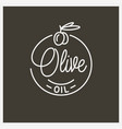 olive oil logo round linear logo olive branch vector image
