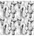 pattern with different cocktails vector image vector image