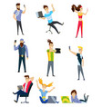 people communication via internet social vector image vector image