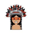 portrait aboriginal native american with war vector image vector image