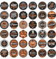 premium quality retro badges collection vector image vector image
