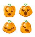 pumpkin cartoon jack o lantern halloween vector image vector image