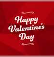 red abstract background happy valentines day vector image