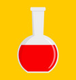 red potion icon flat style vector image vector image