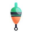 rod bobber icon cartoon style vector image vector image