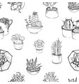 seamless pattern with various hand drawn vector image vector image