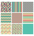 Seamless retro geometric hipster background set vector image vector image